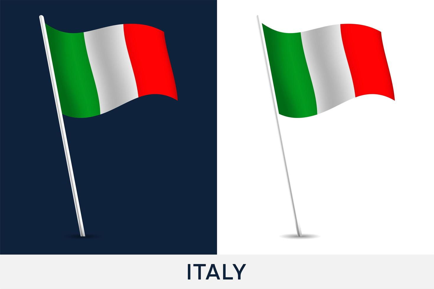 Italië vector vlag