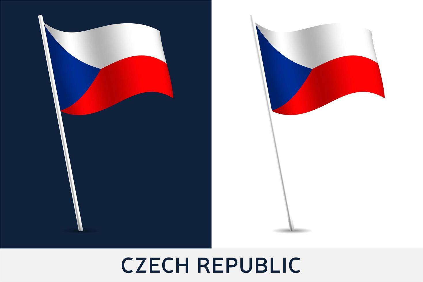 Tsjechische Republiek vector vlag