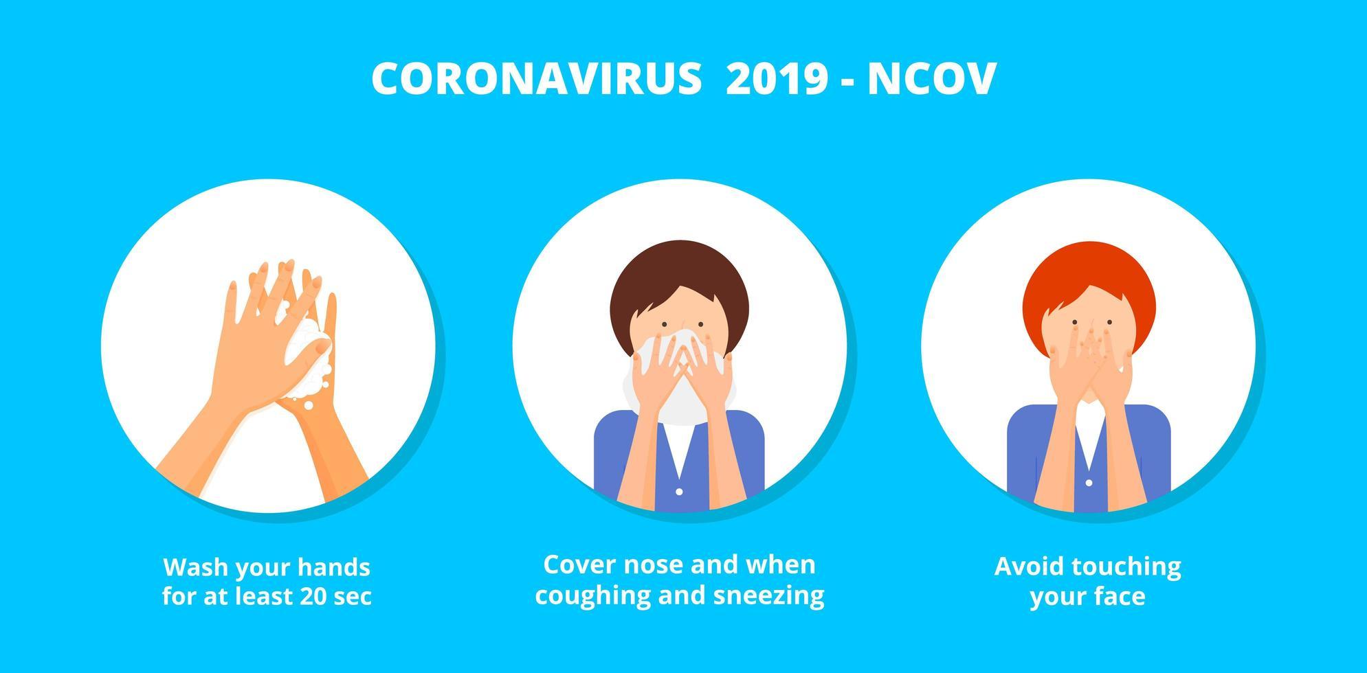 coronavirus covid-19 preventiemethoden infographic. vector