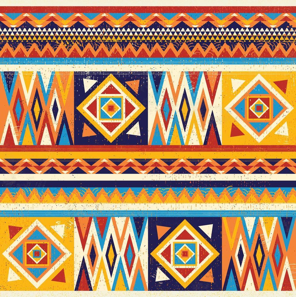 kleurrijk Afrikaans textielontwerp. kente fabric print design, afrikaanse cultuur vector
