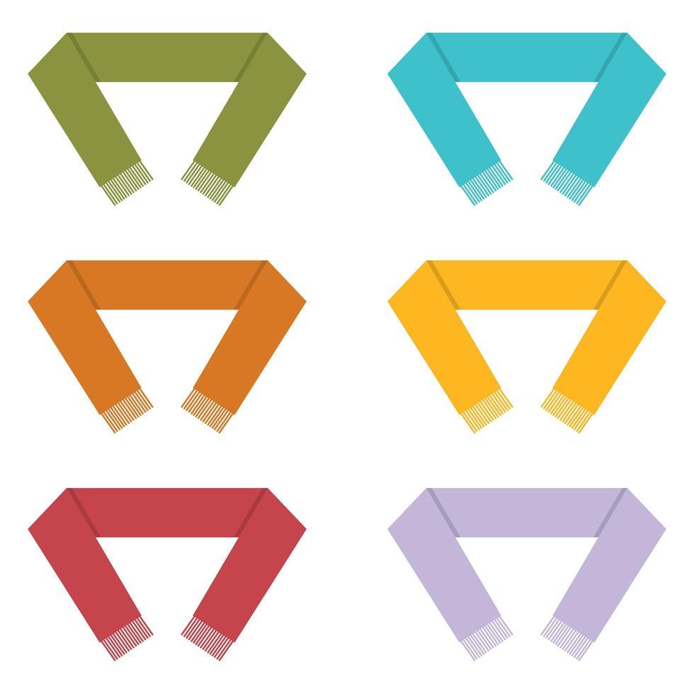 winter sjaal vector ontwerp illustratie geïsoleerd op een witte achtergrond