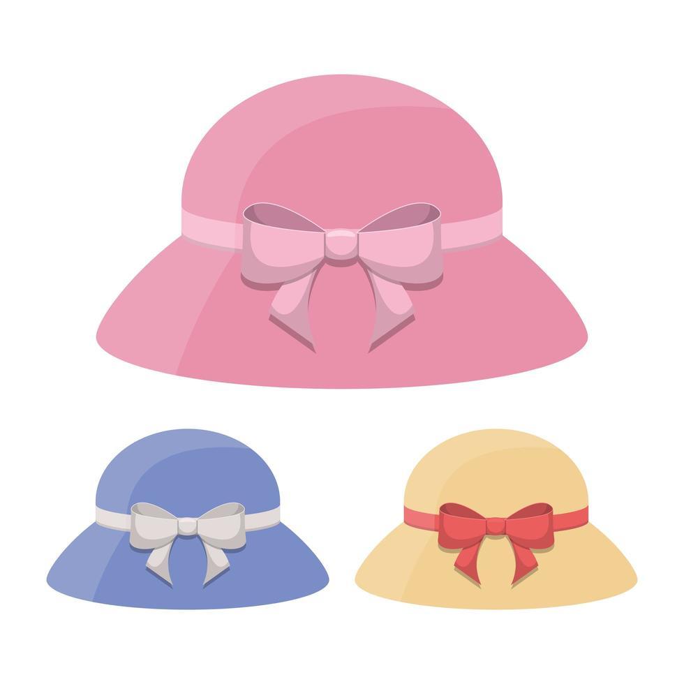 vrouw retro hoed vector ontwerp illustratie geïsoleerd op een witte achtergrond