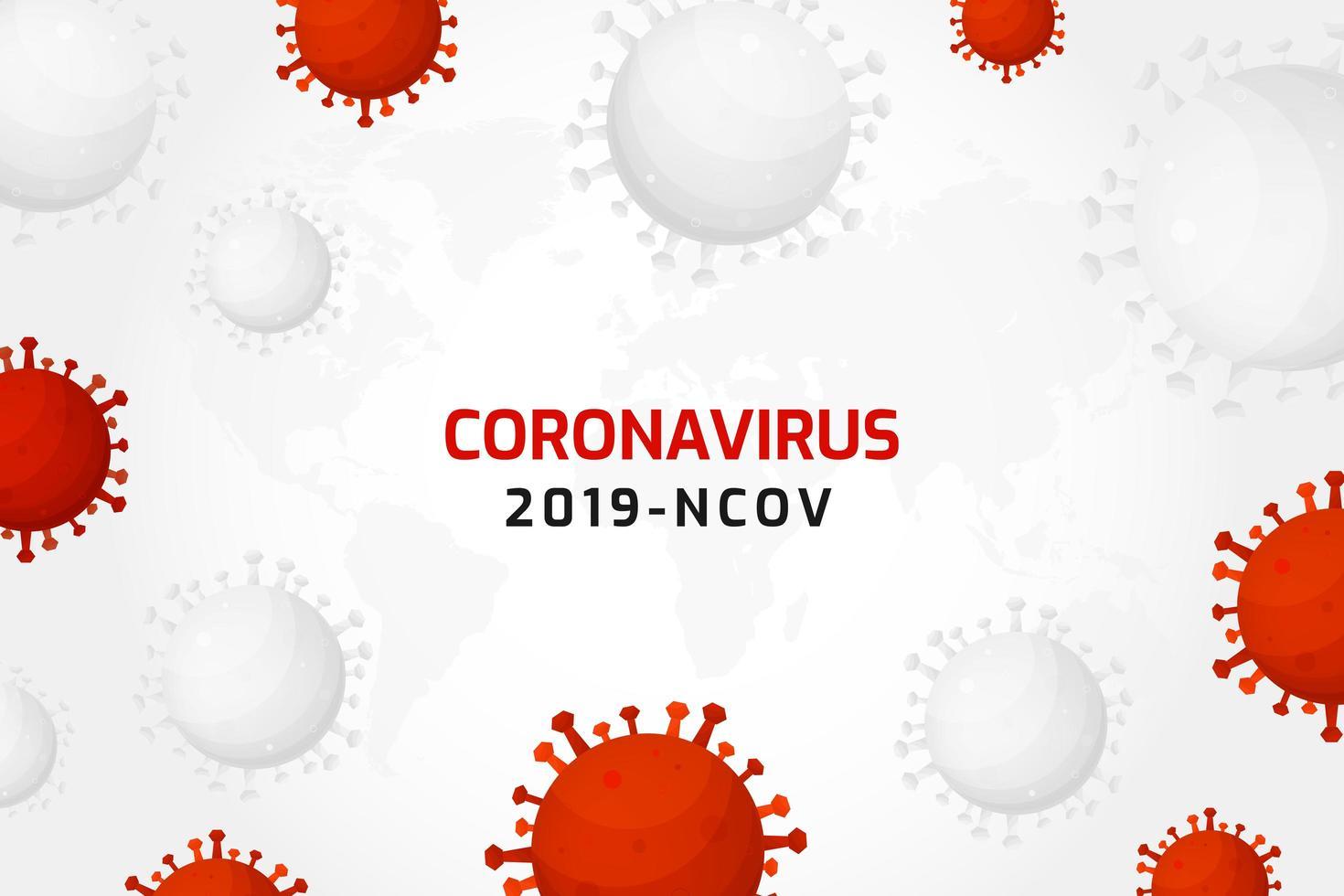virusinfectie of bacteriecellen achtergrond vector
