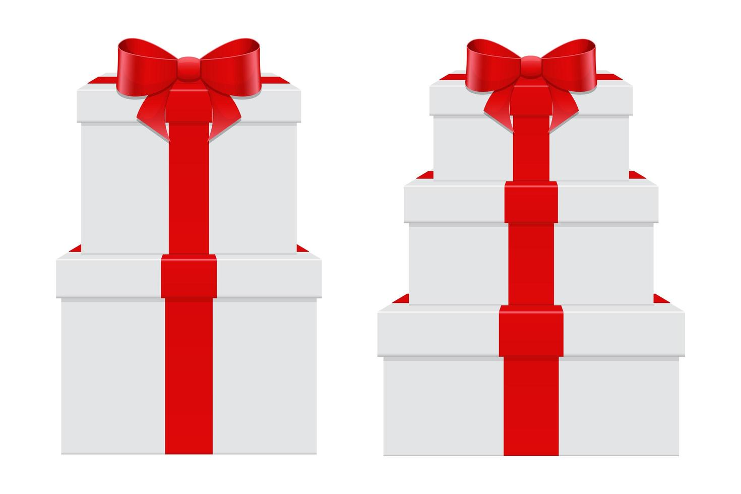 huidige box set vector ontwerp illustratie geïsoleerd op een witte achtergrond