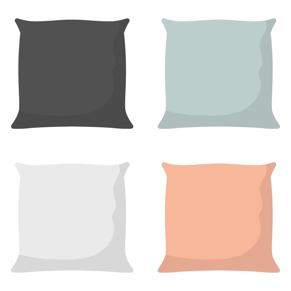 kussen voor bed vectorillustratie ontwerp geïsoleerd op de achtergrond vector