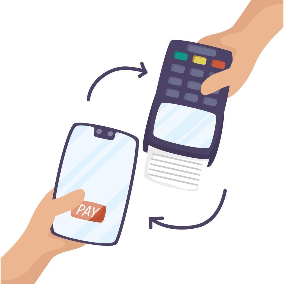 smartphone met voucher machine-symbool vector
