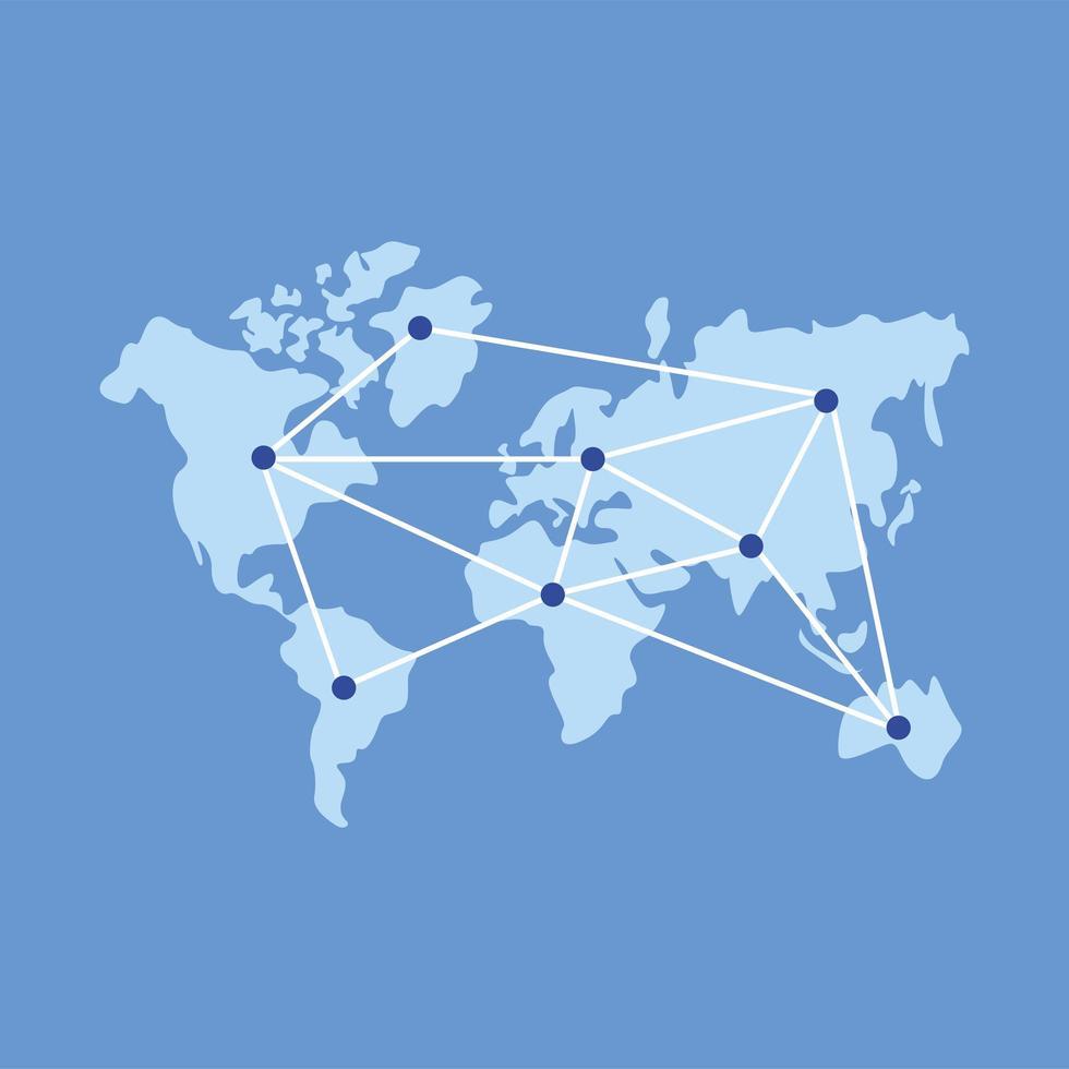 wereldkaart met punten vector ontwerp