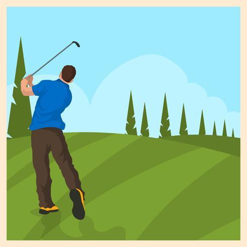 Vintage Golf vectorillustratie vector