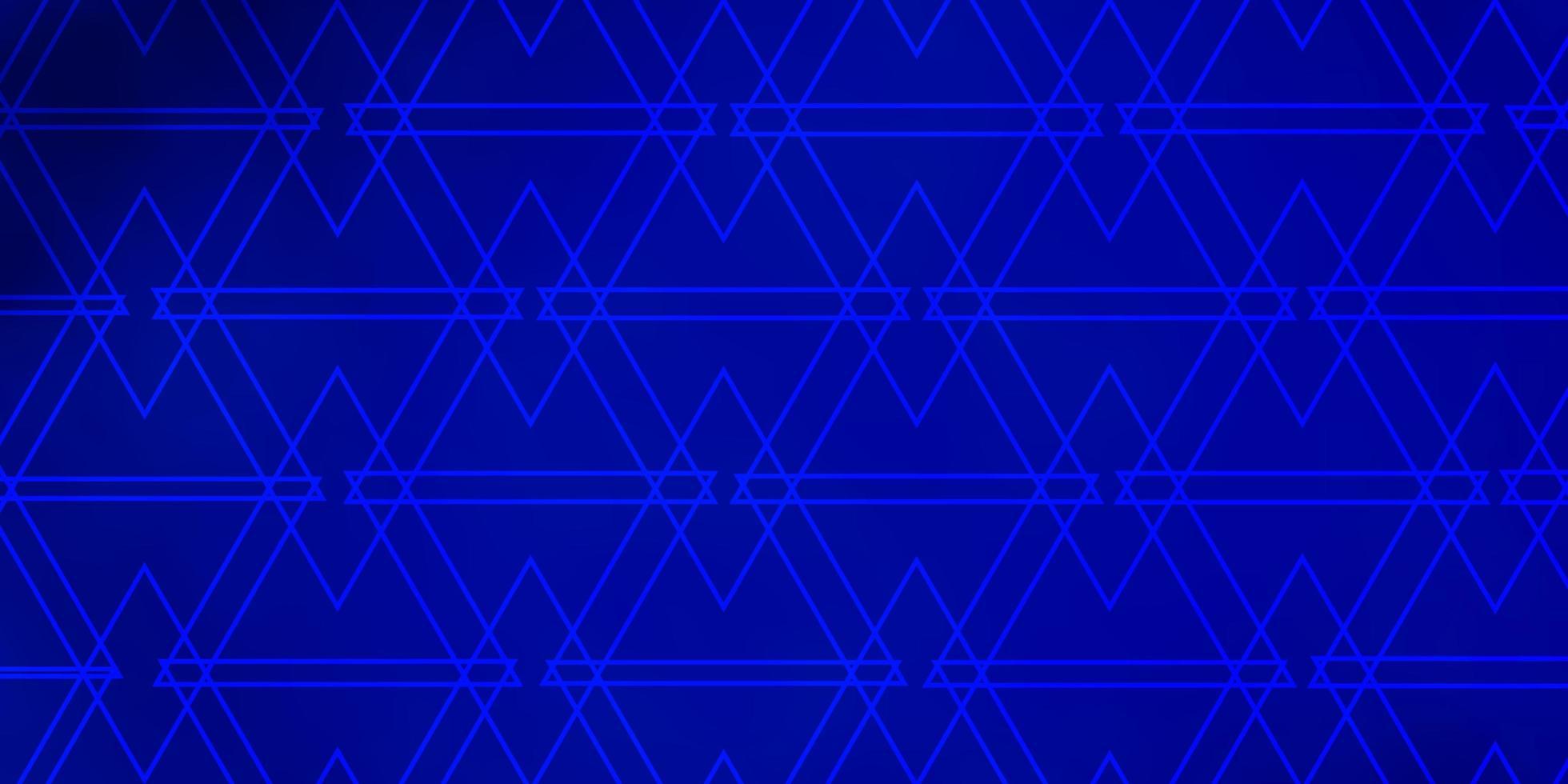 donkerblauwe vectorachtergrond met driehoeken. vector