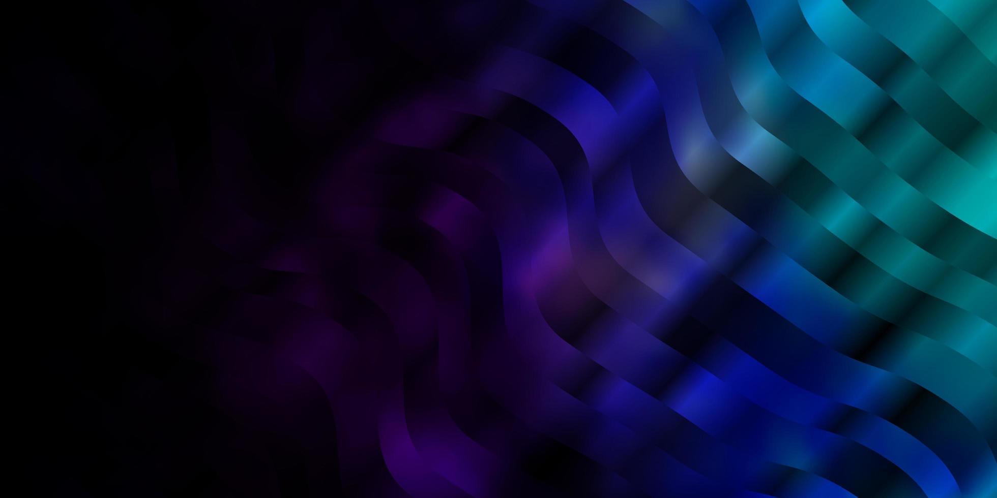 donkerroze, blauwe vectorachtergrond met gebogen lijnen. vector