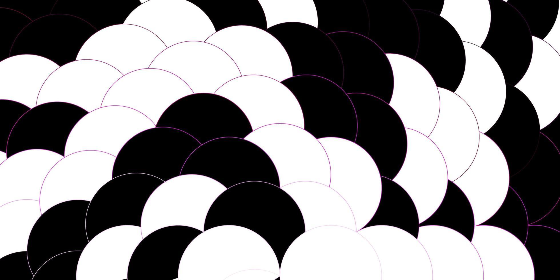 donkerroze vectorpatroon met bollen. vector