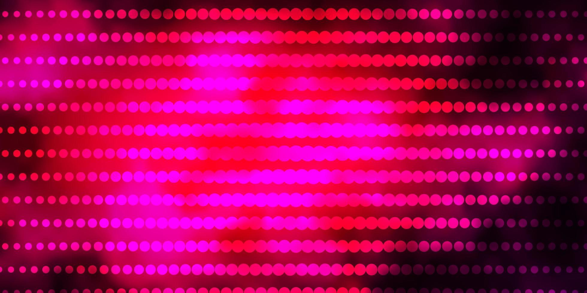 donkerroze vector achtergrond met cirkels.