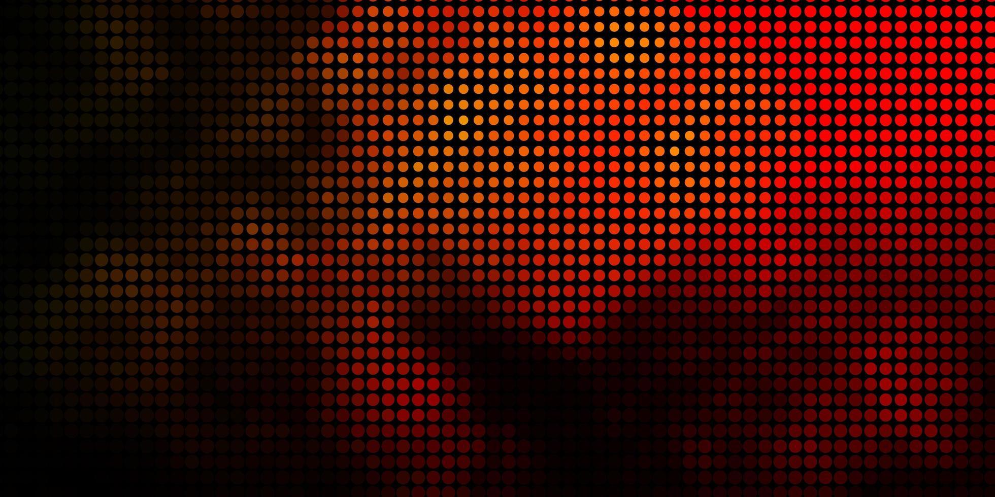 donkeroranje vector achtergrond met bubbels.