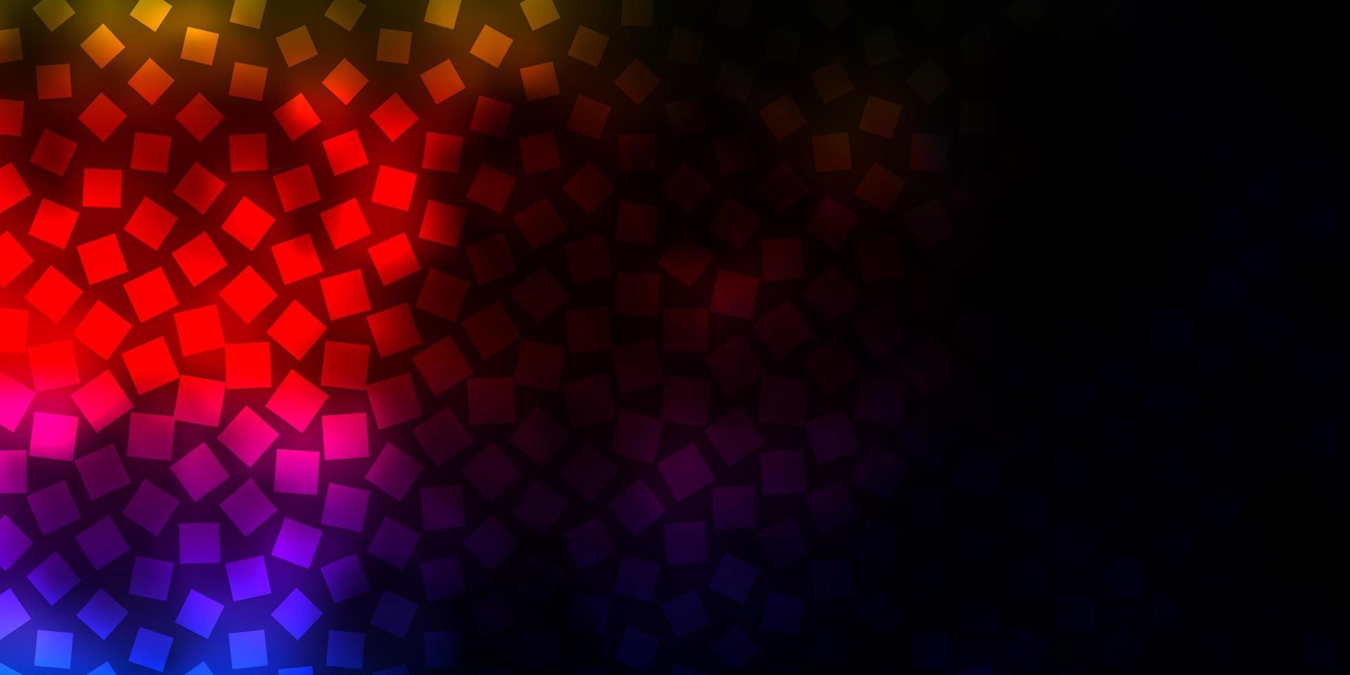 donkere veelkleurige vectorachtergrond met rechthoeken. vector