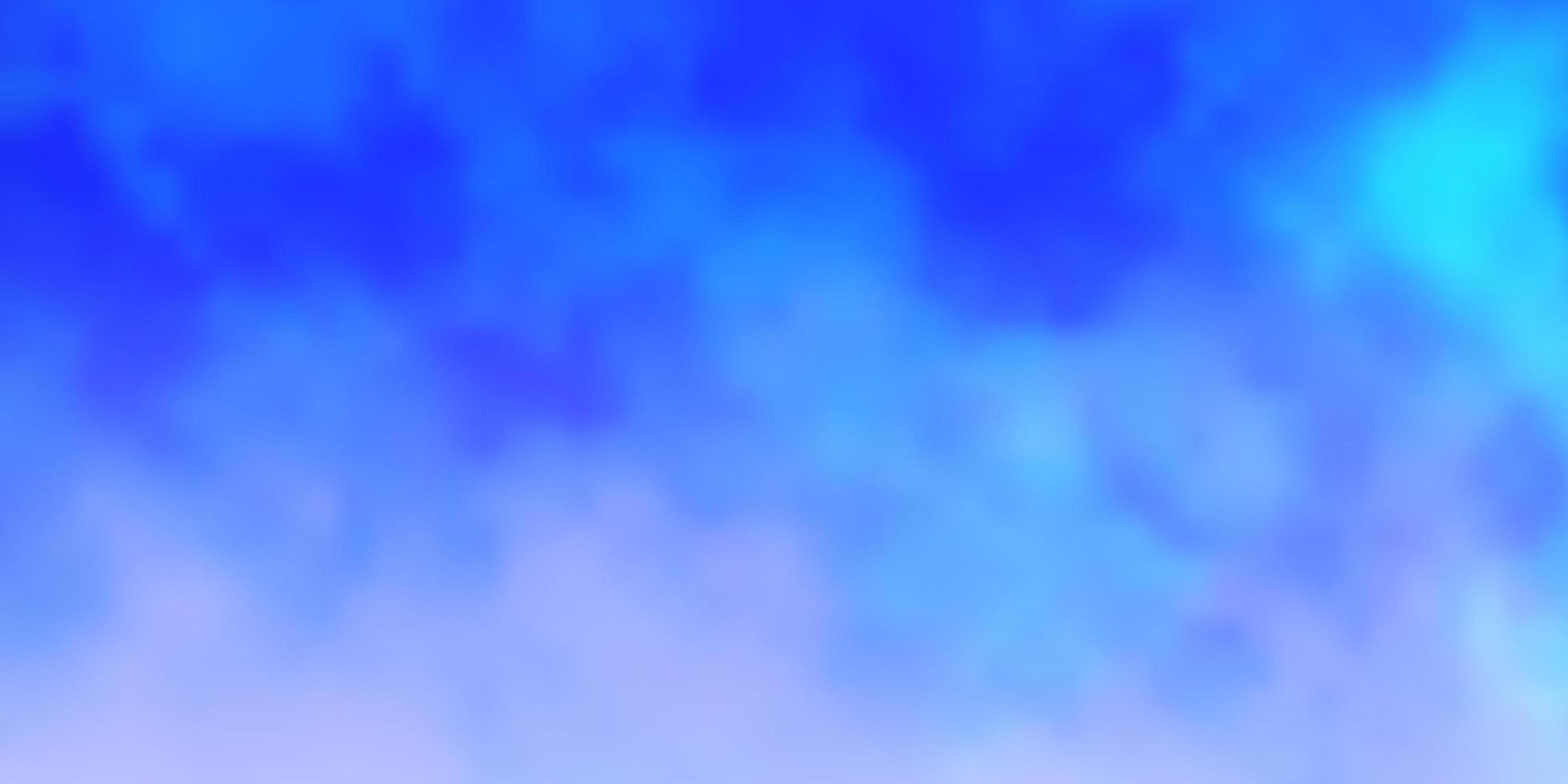 lichtblauwe vector achtergrond met wolken.