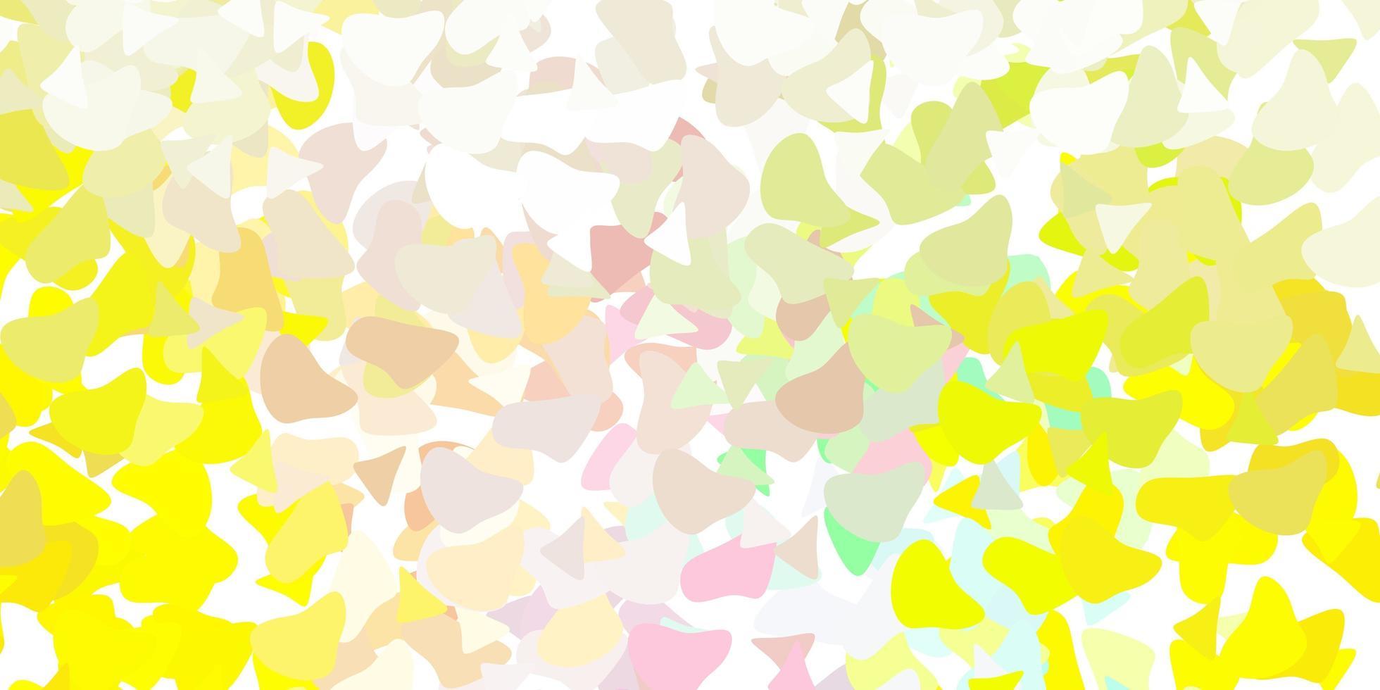 lichtgroen, rood vectorpatroon met abstracte vormen. vector