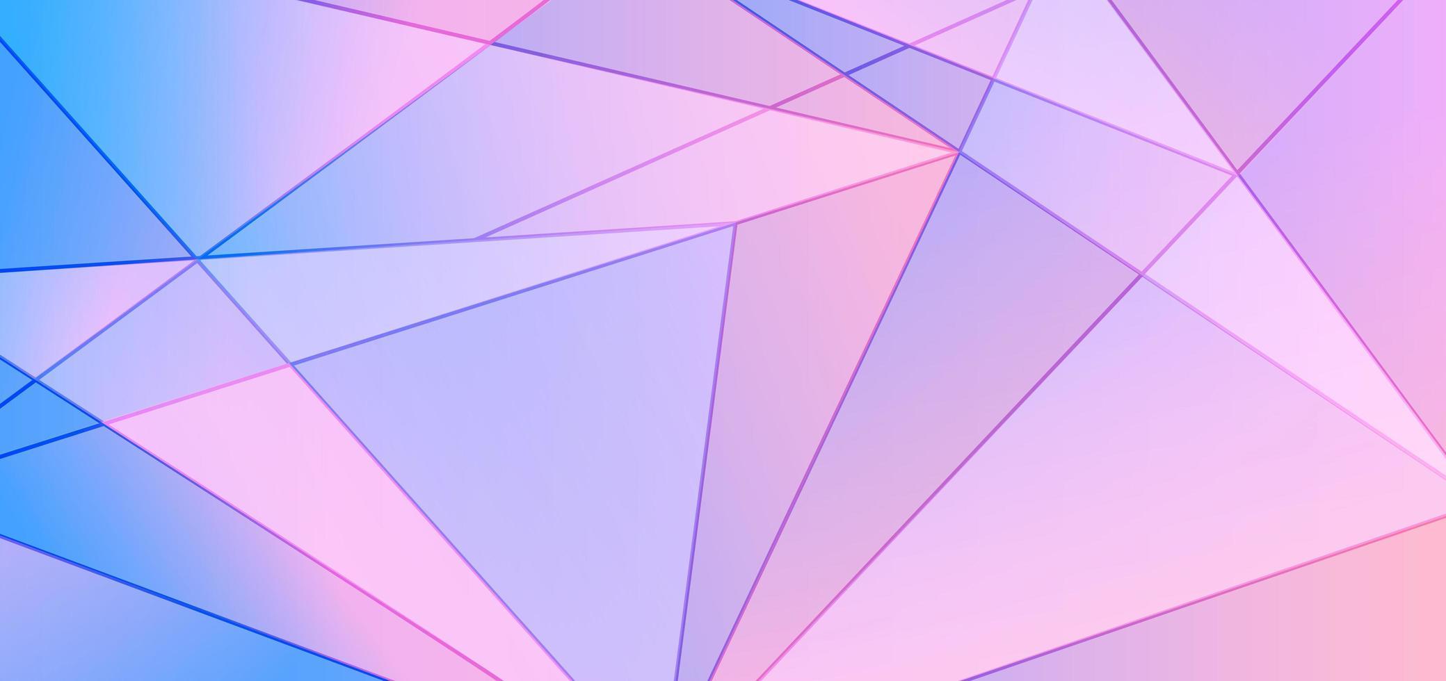 abstracte blauwe en roze achtergrond en textuur van het gradiënt veelhoekige patroon. laag poly mosiac driehoeksvormen in willekeurig ontwerp vector