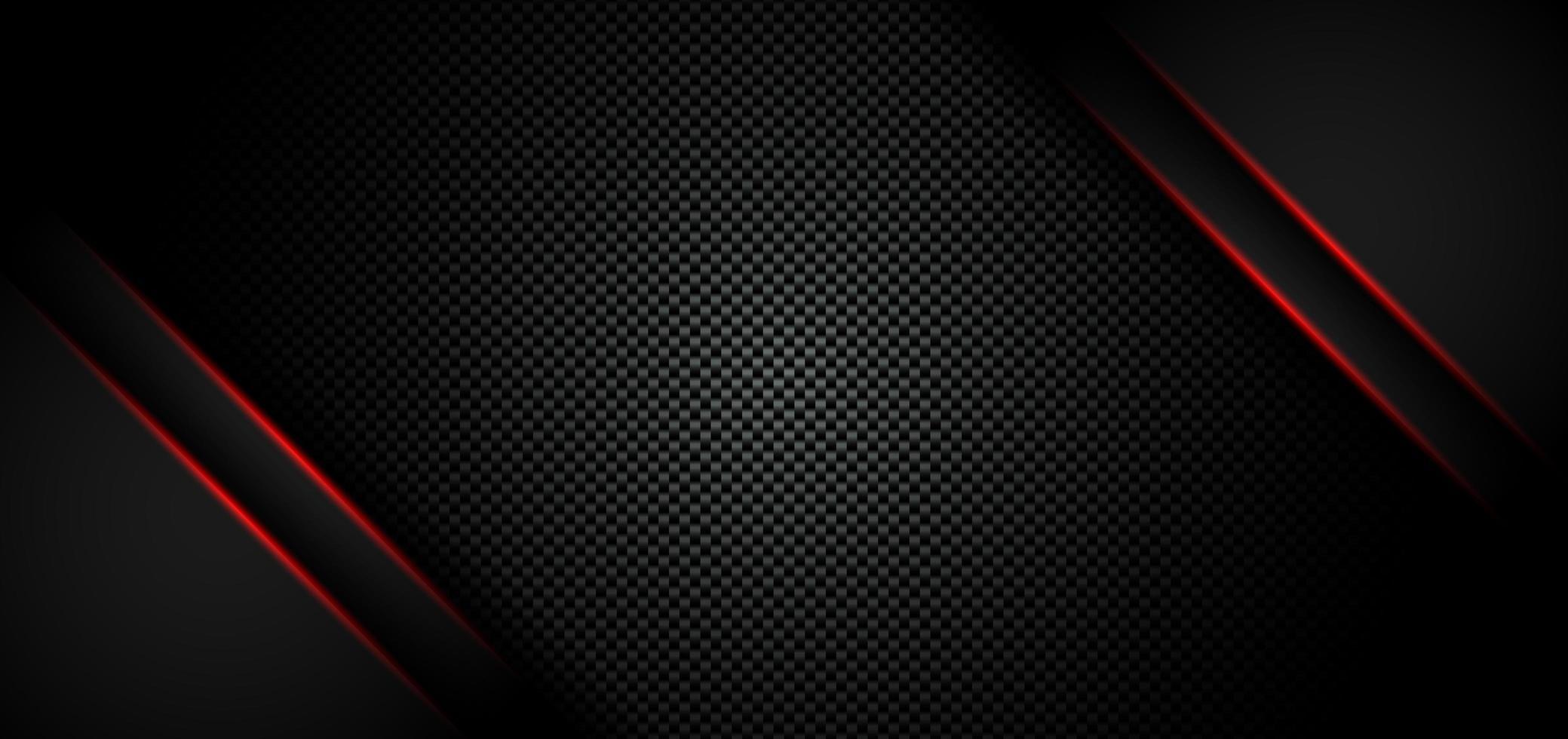 abstract metallic rood glanzend kleur zwart frame lay-out moderne tech ontwerpsjabloon op koolstofvezel materiële achtergrond en textuur vector