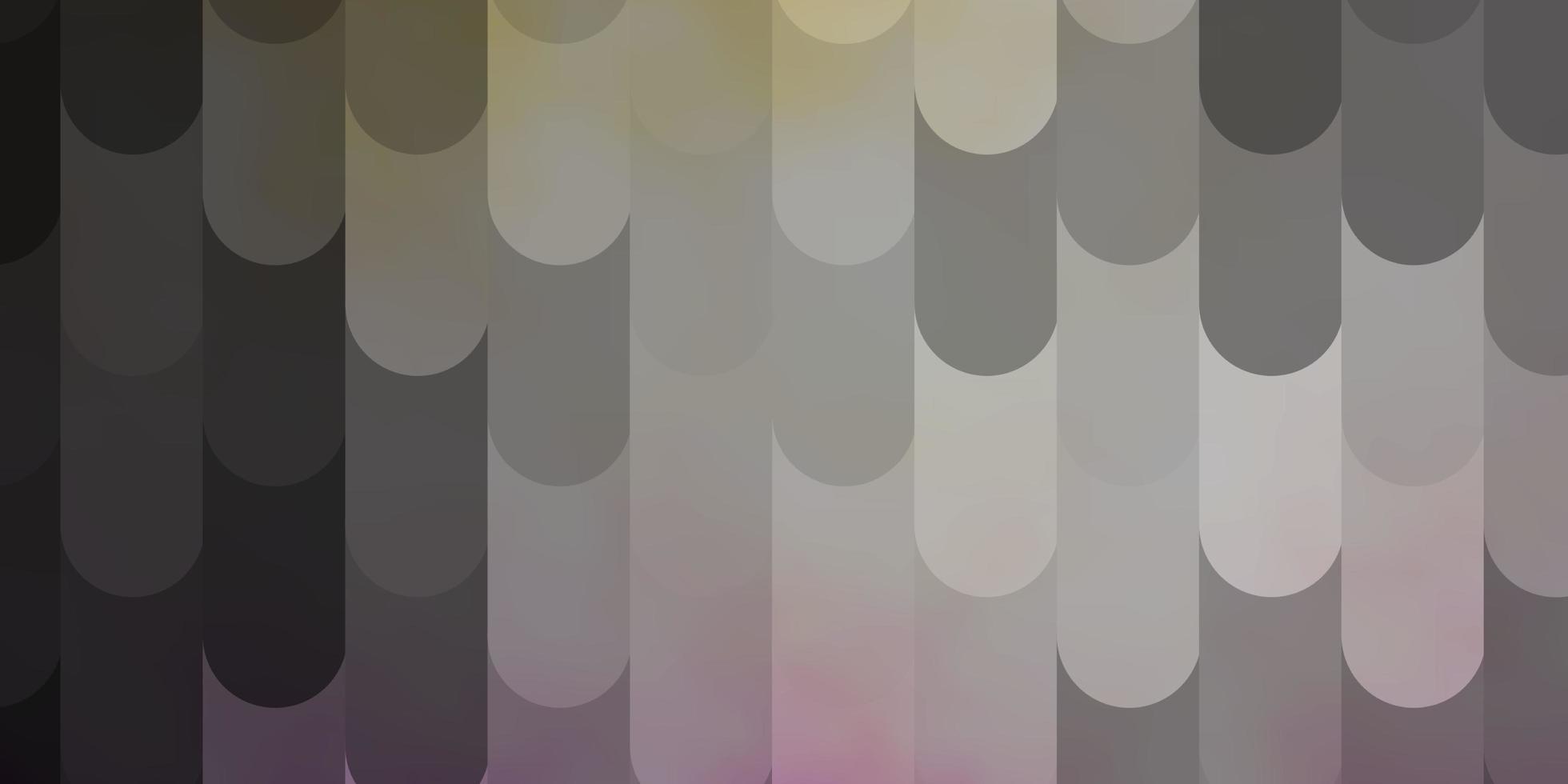 lichtroze, gele vectorachtergrond met lijnen. vector