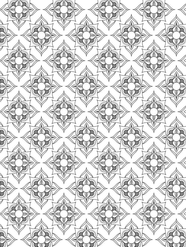mandala ramadan kareem decoratie patroon vector
