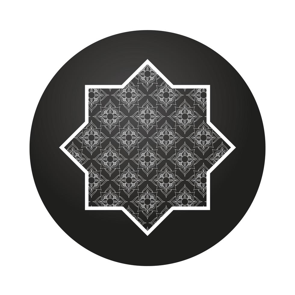 ster en mandala ramadan kareem decoratie vector