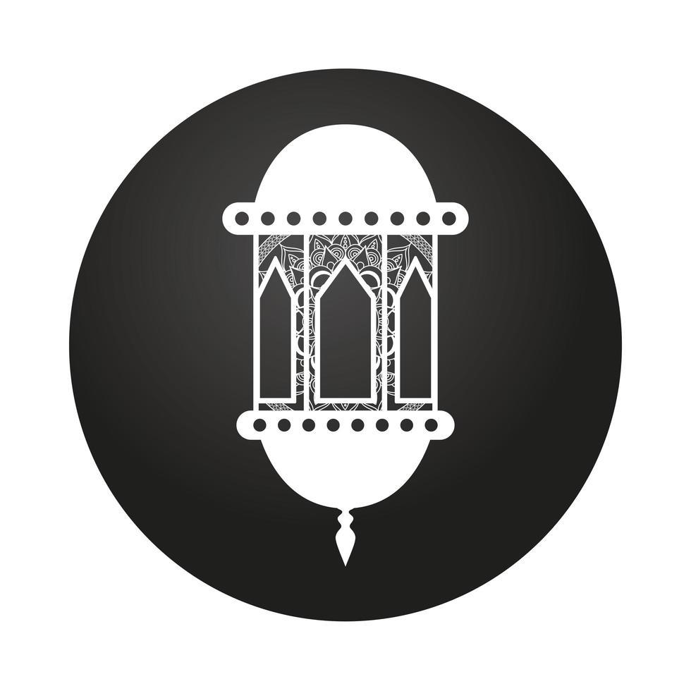 lamp ramadan kareem decoratie pictogram vector