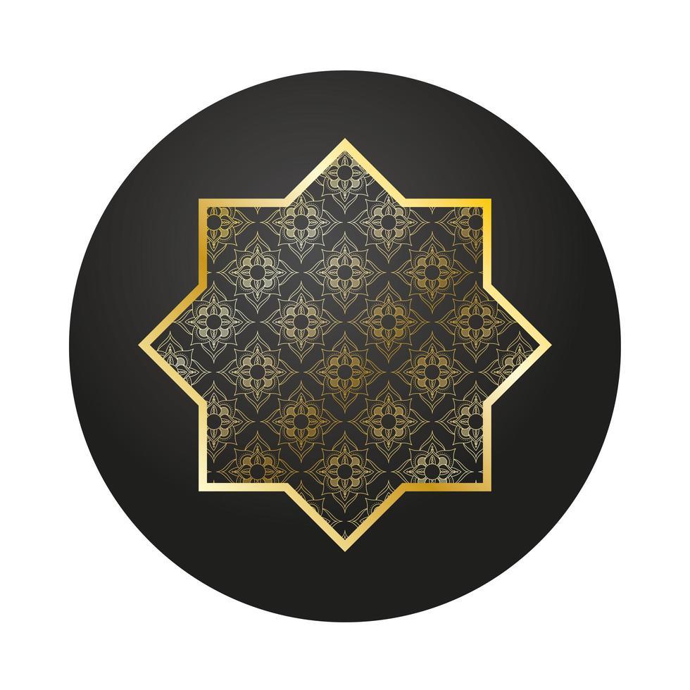 gouden ster ramadan kareem decoratie vector