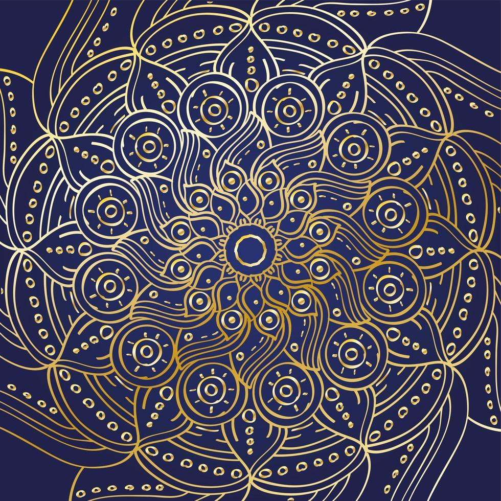 gouden mandala ramadan kareem decoratie vector