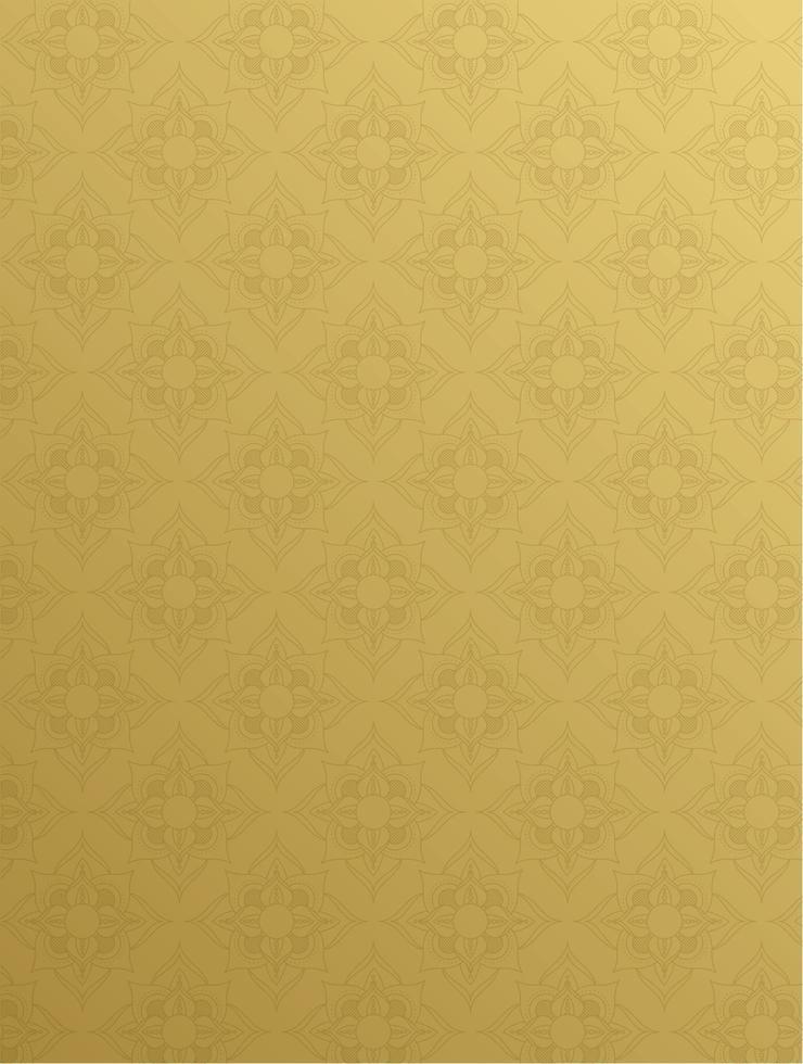 mandala ramadan kareem gouden patroon vector