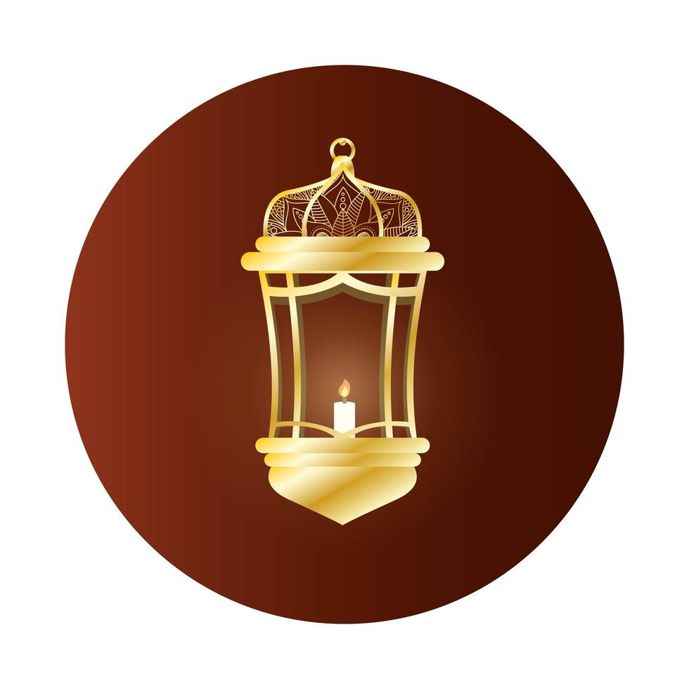 gouden lamp ramadan kareem decoratie vector