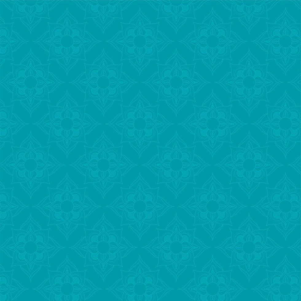mandala ramadan kareem blauw patroon vector