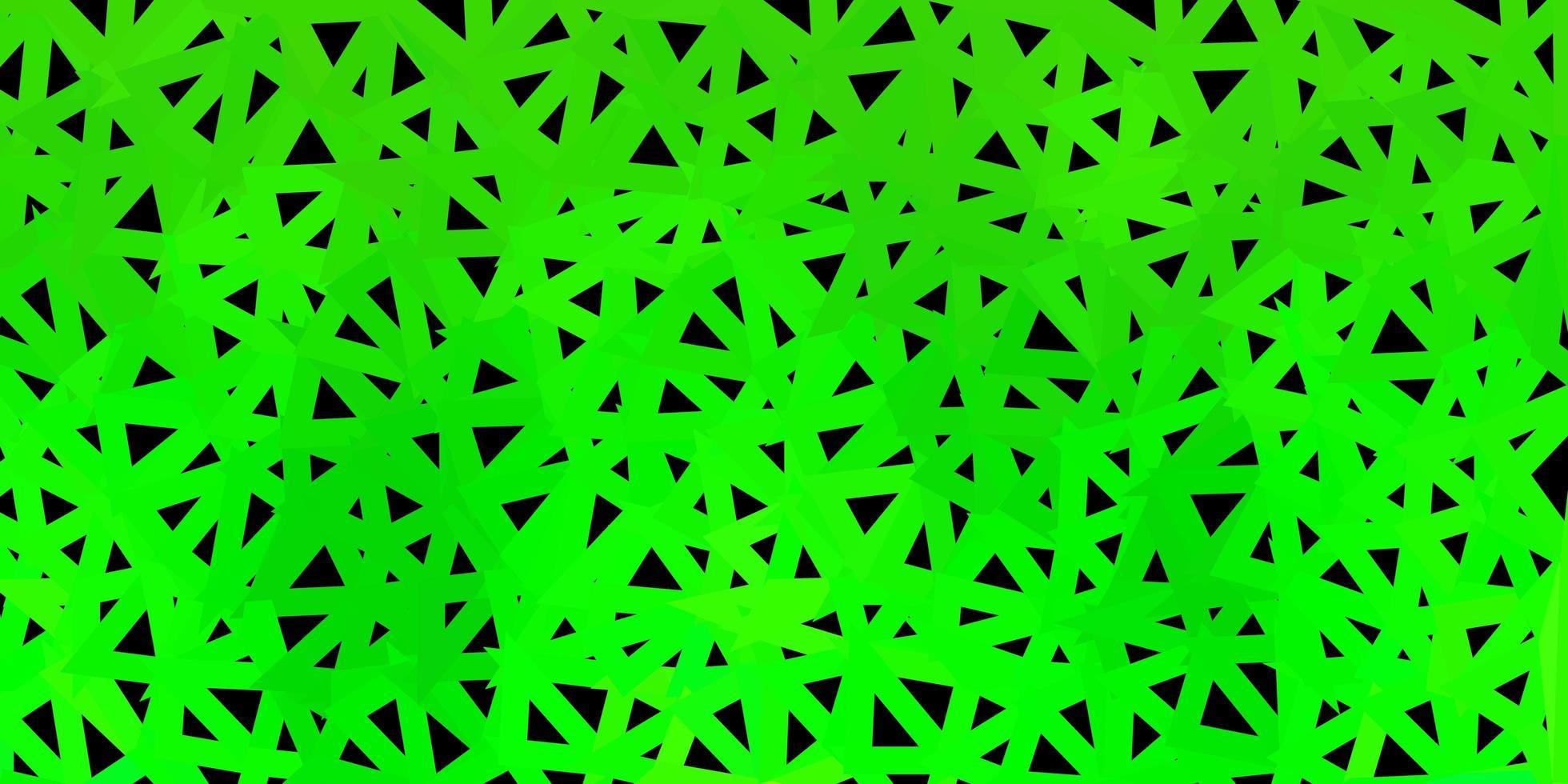 donkergroen vector abstract driehoekspatroon.