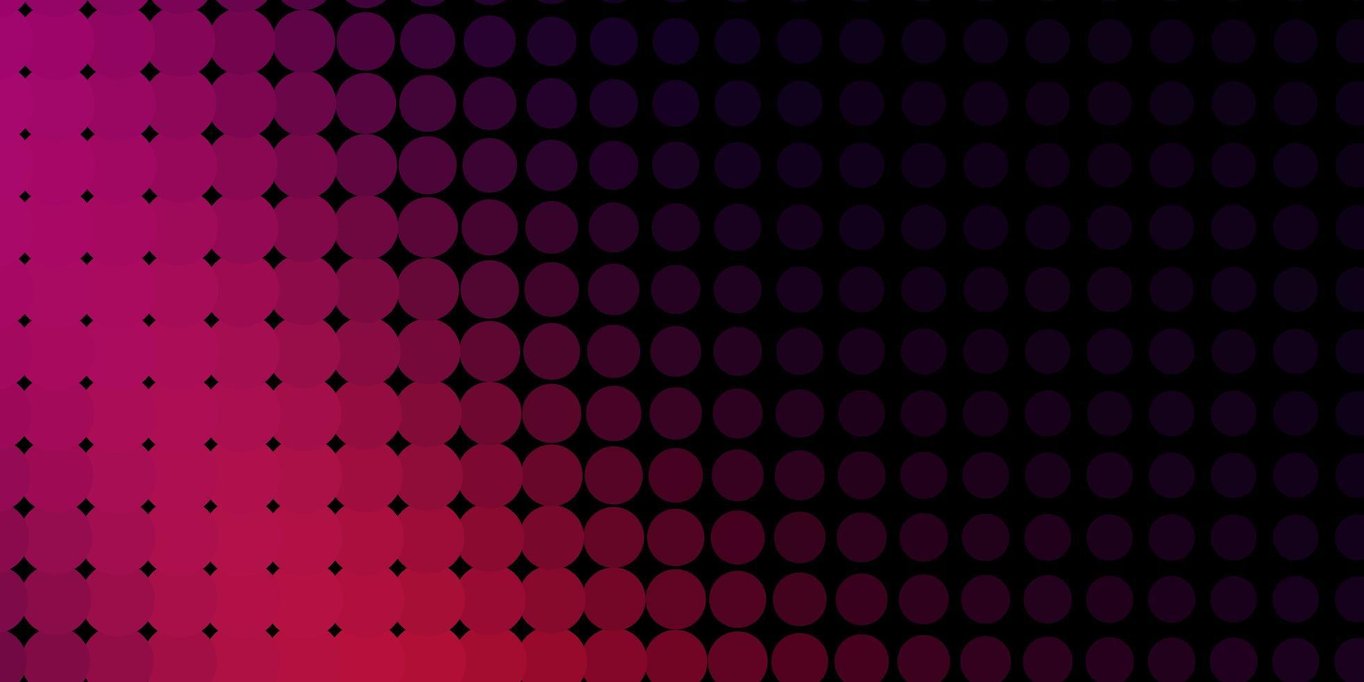 donkerroze vector achtergrond met bubbels.