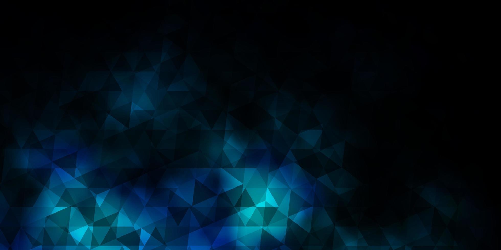 donkerblauw vectorpatroon met veelhoekige stijl. vector