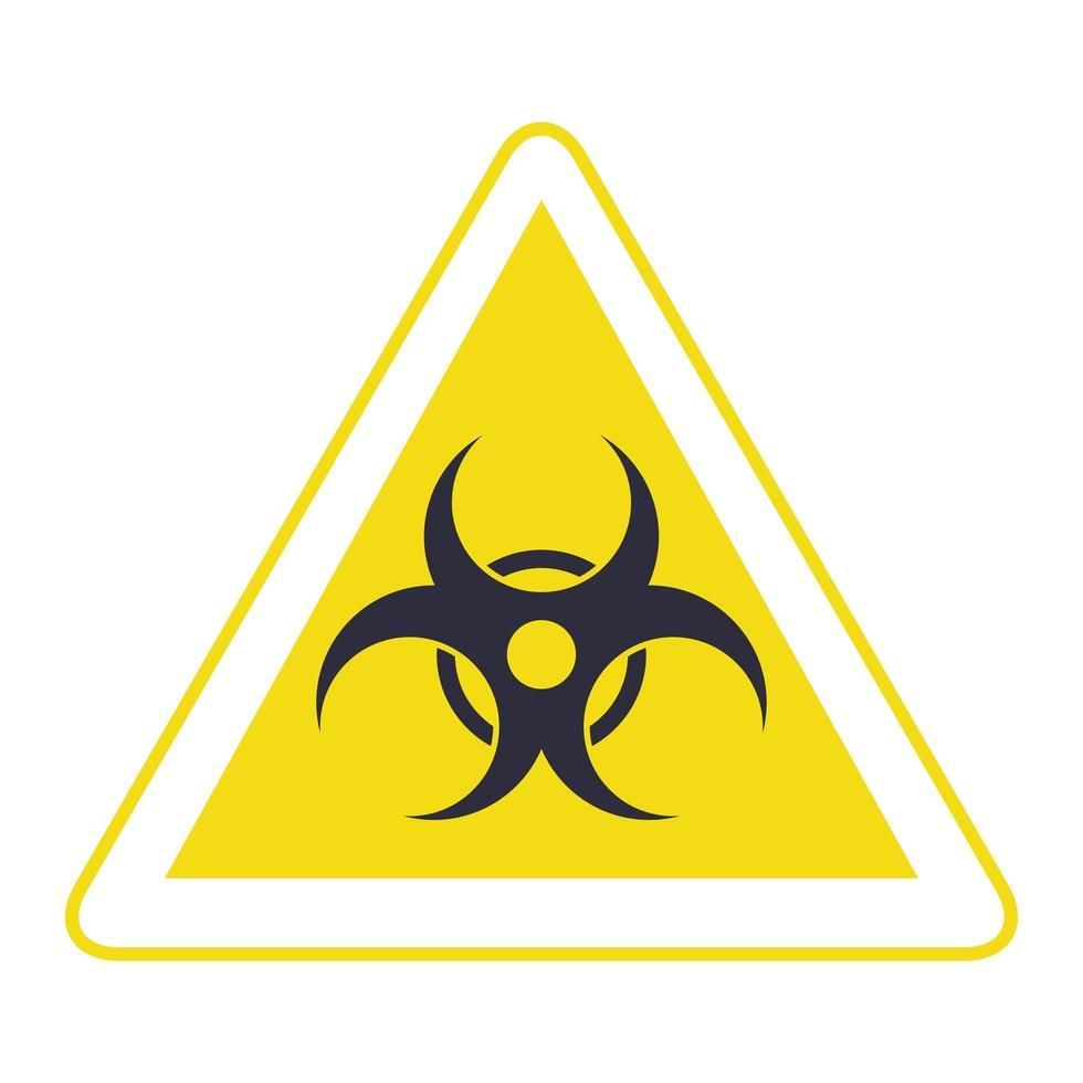 Waarschuwingspictogram signaal biohazard driehoek vector