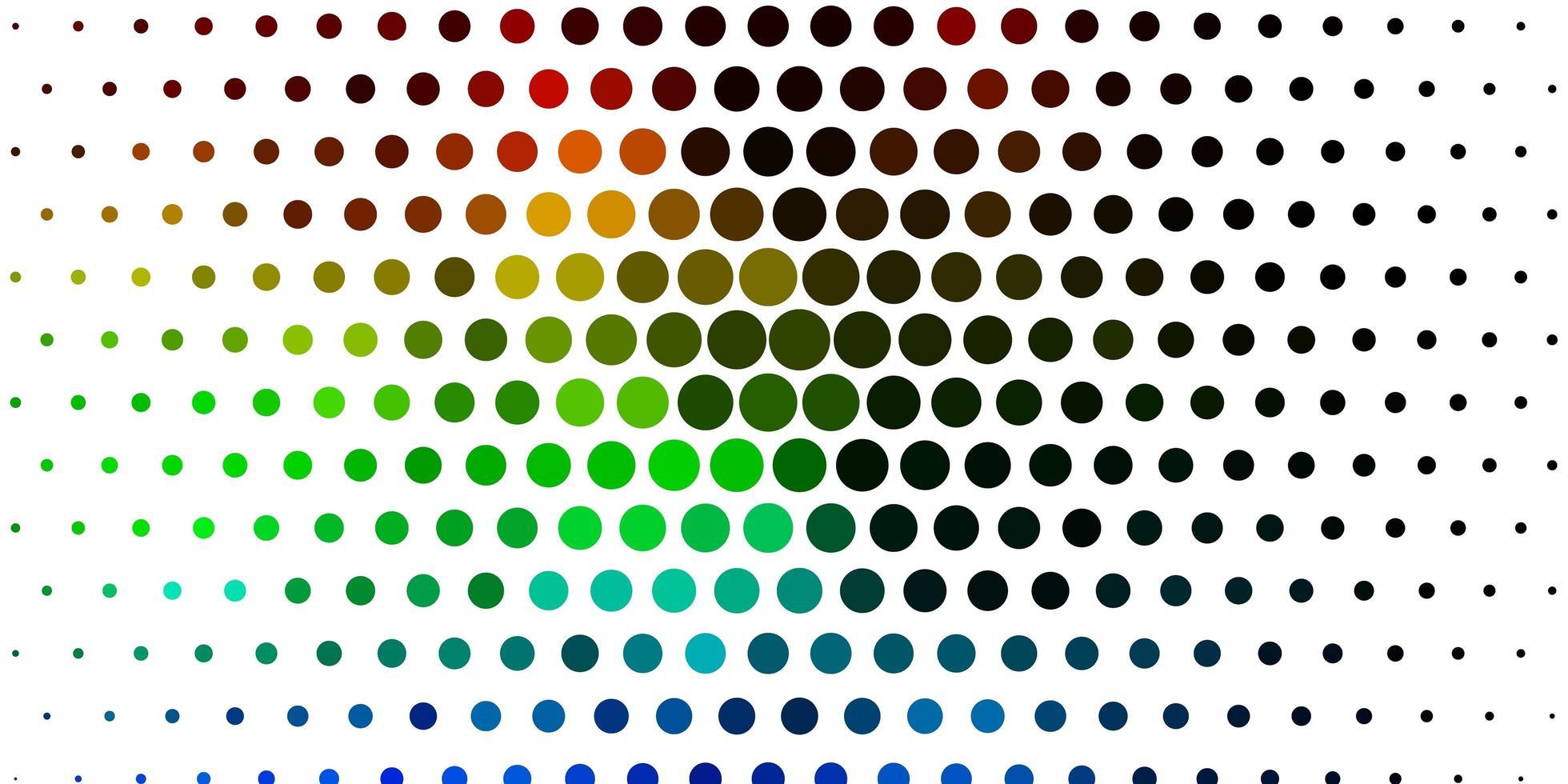 licht veelkleurige vector achtergrond met stippen.