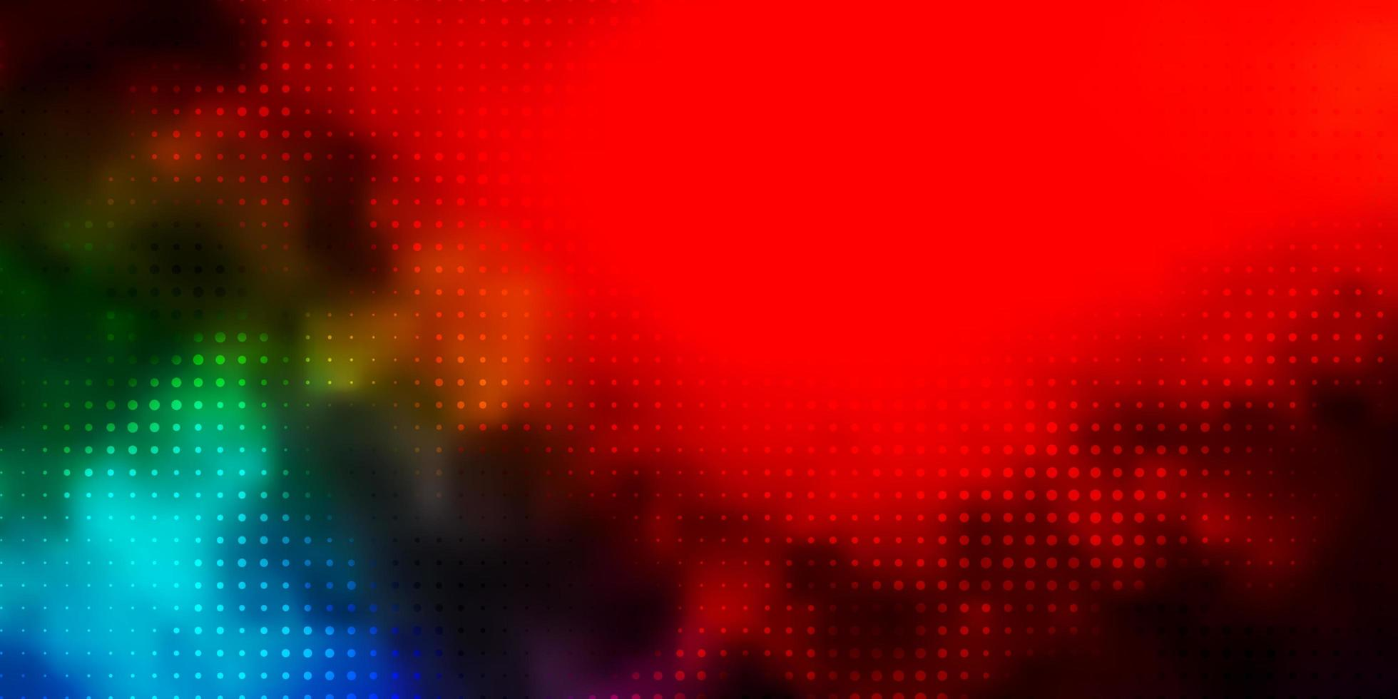 donker veelkleurig vectorpatroon met bollen. vector