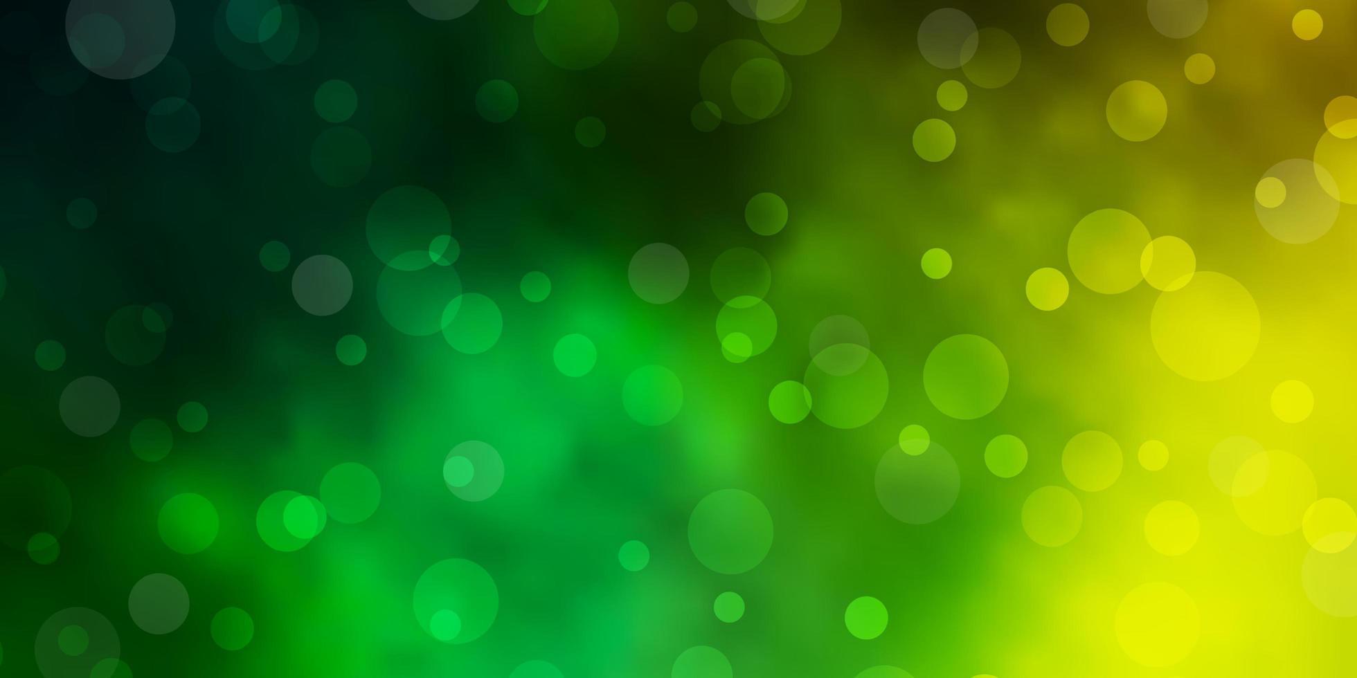 lichtgroene, gele vectortextuur met schijven. vector