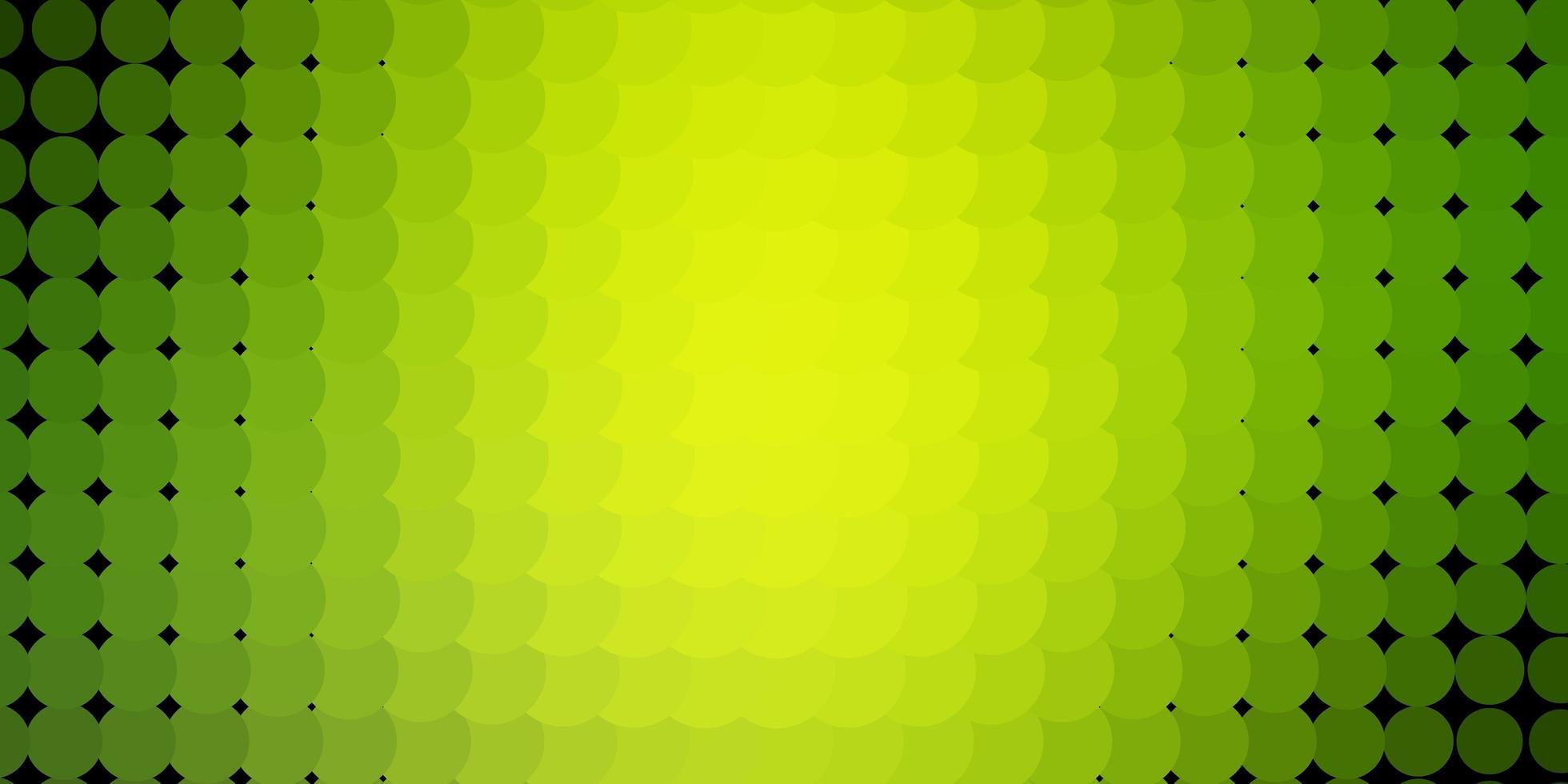 lichtgroene, gele vectorachtergrond met cirkels. vector