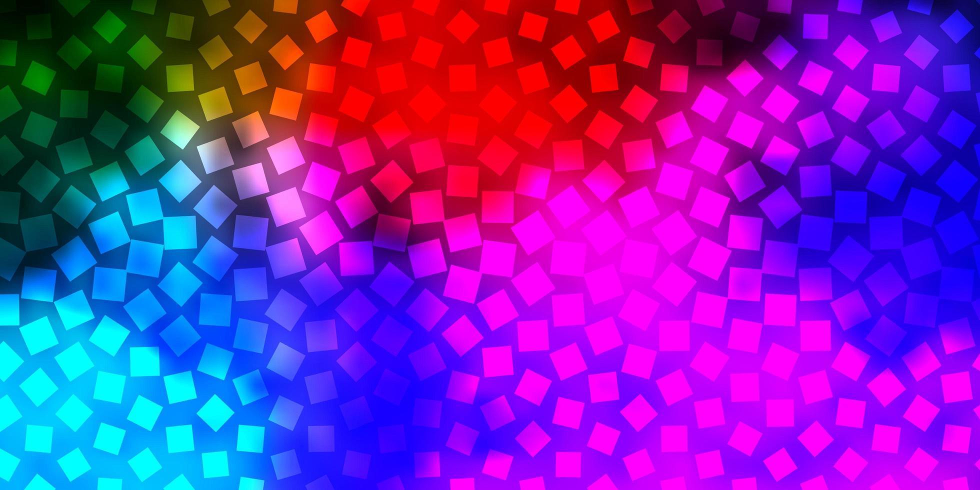 donkere veelkleurige vector sjabloon met rechthoeken.