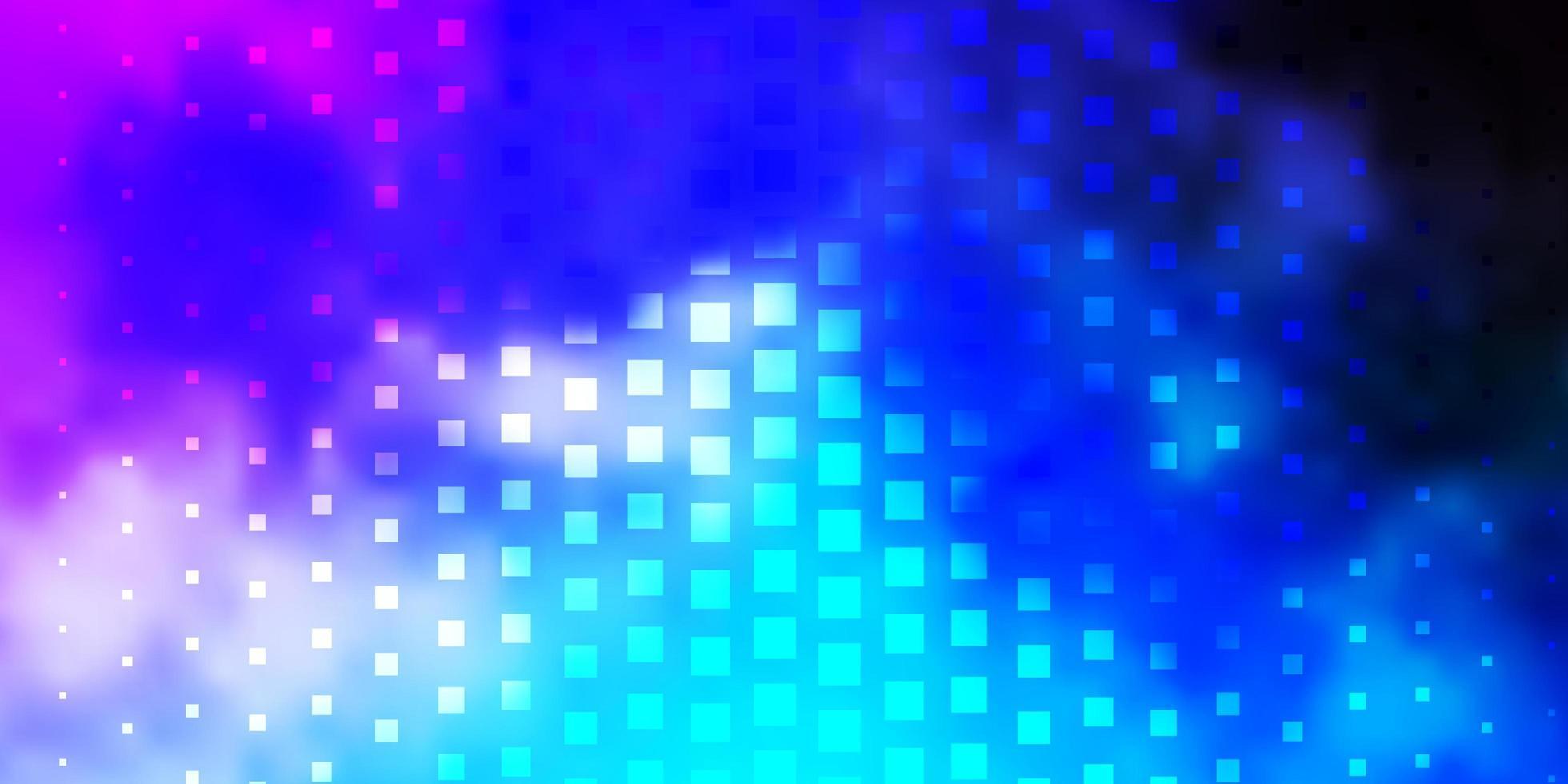 lichtroze, blauwe vectorachtergrond in veelhoekige stijl. vector