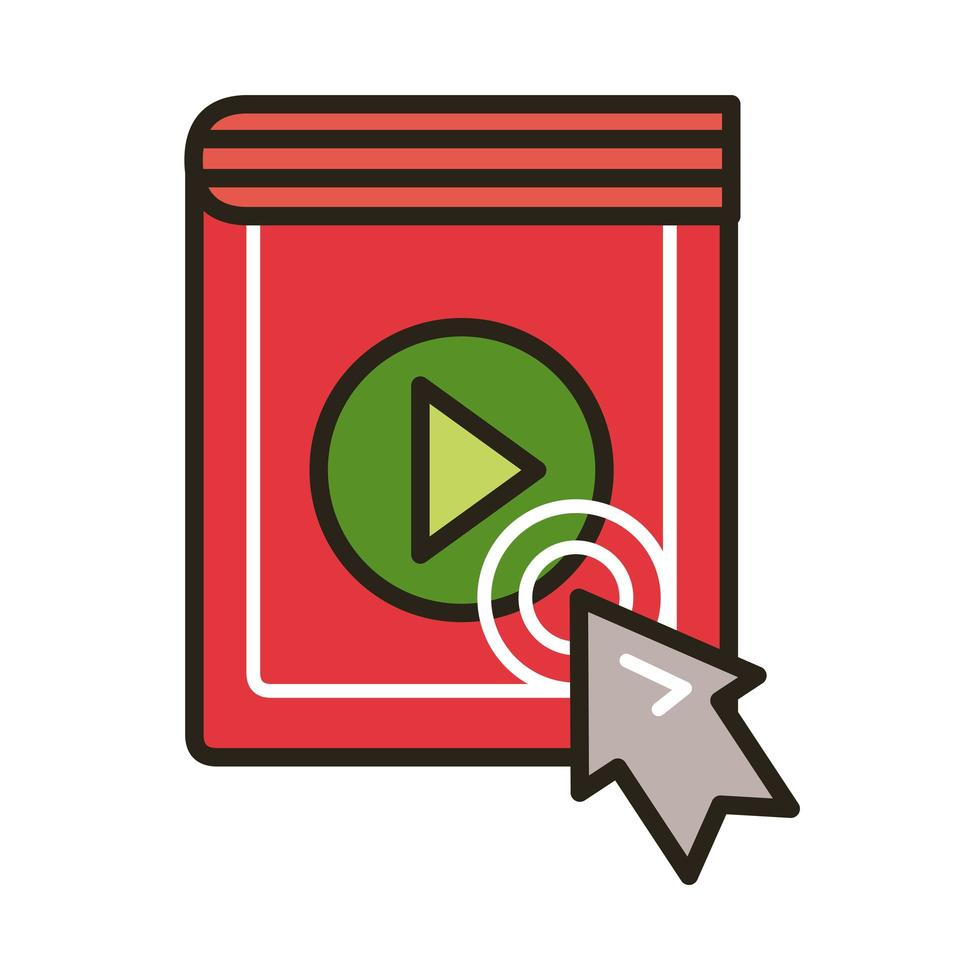elektronisch boek met muispijl vector