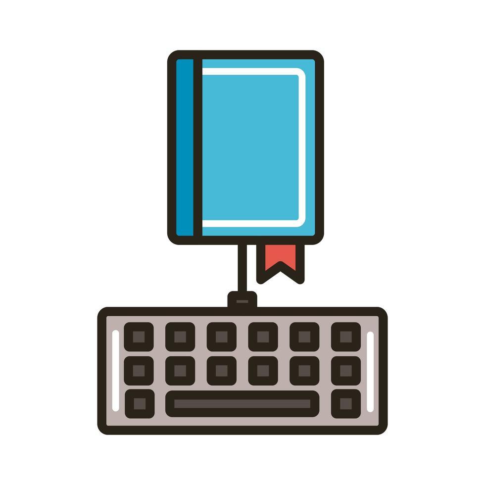 elektronisch boek met toetsenbord vector