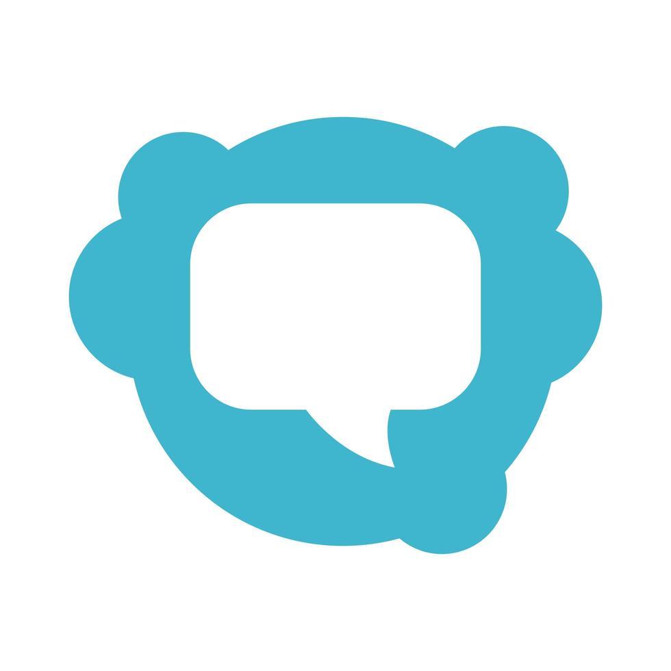 toespraak bubble bericht blok stijlicoon vector