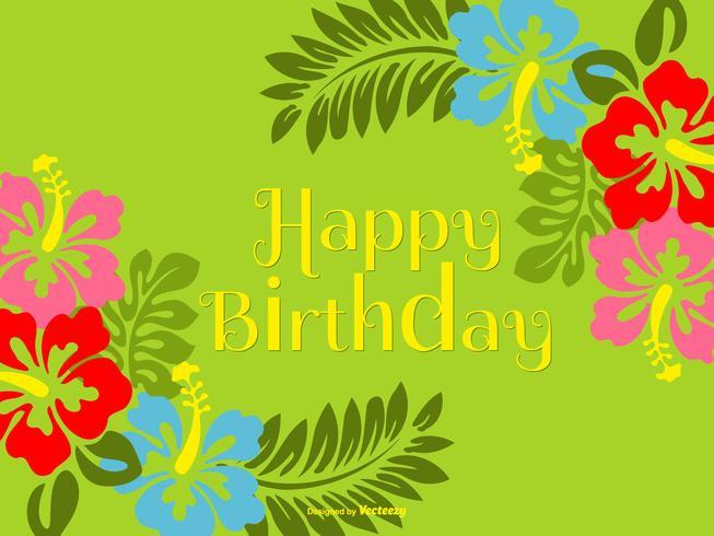 Kleurrijke Polynesische stijl gelukkige verjaardag illustratie vector