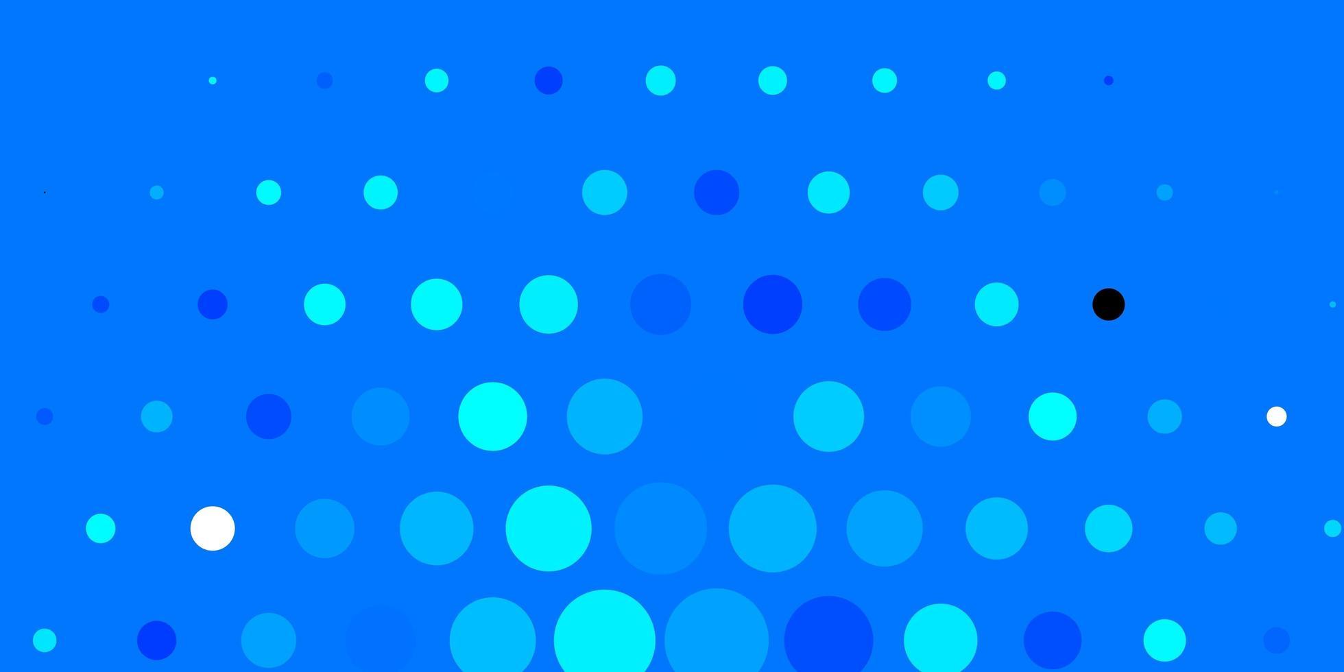 donkerblauwe vectorlay-out met cirkelvormen. vector