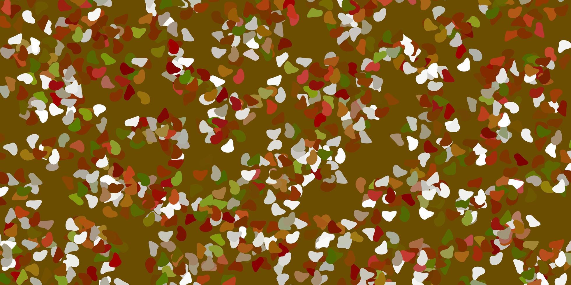 lichtgroen, geel vectormalplaatje met abstracte vormen. vector