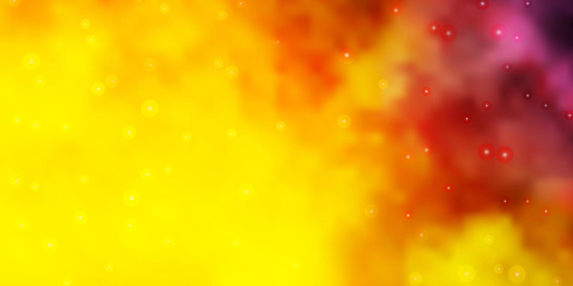 lichtroze, gele vectortextuur met prachtige sterren. vector