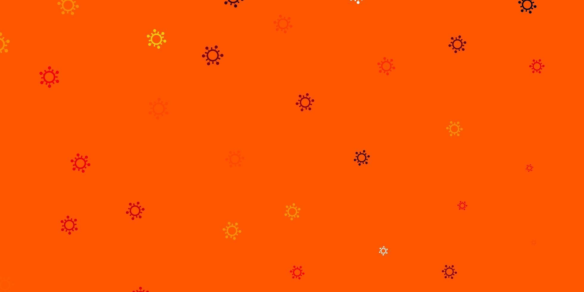 lichtoranje vectortextuur met ziektesymbolen. vector