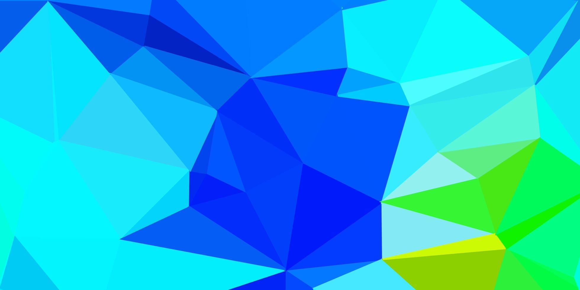 donkerblauwe, groene vector poly driehoekslay-out.